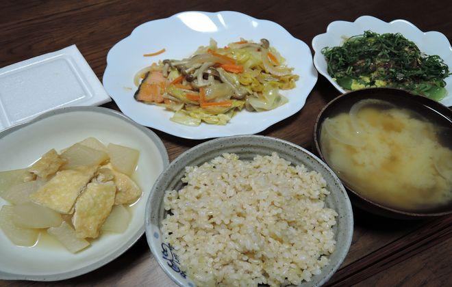玄米の夕食メニュー