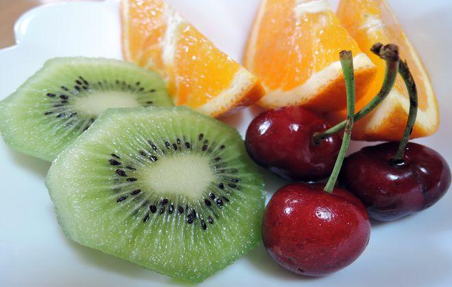 朝食は果物