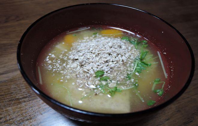 菊芋の味噌汁
