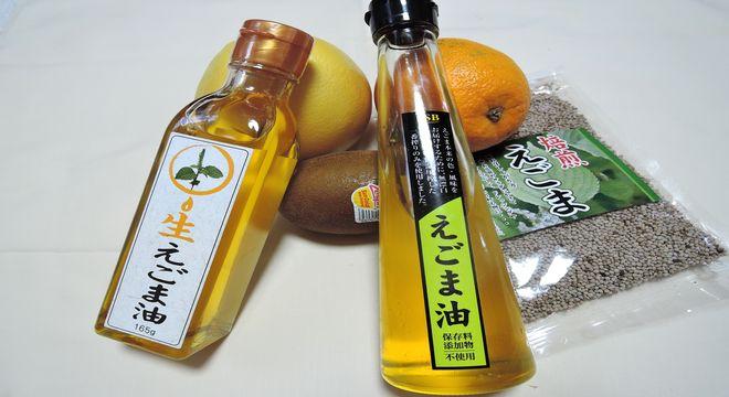果物とエゴマ油