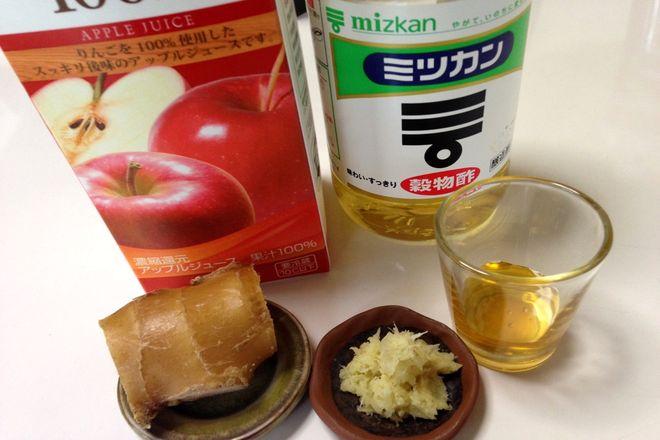 生姜酢りんこドリンク(材料)