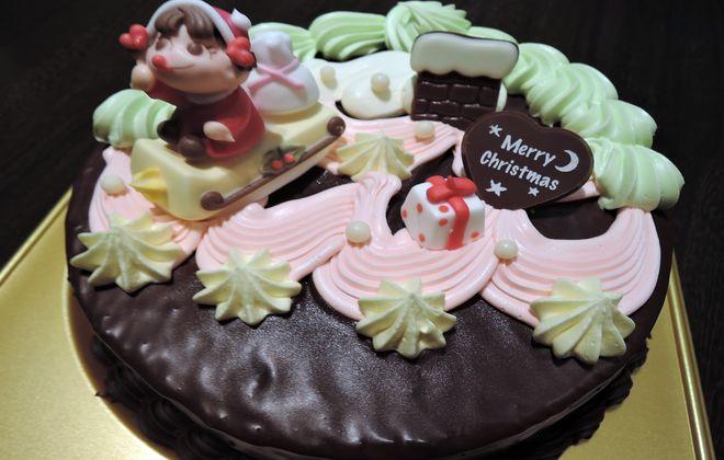 不二家のクリスマスケーキ(バタークリーム)