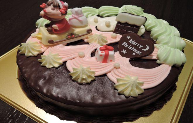 不二家のクリスマスケーキ(パタークリーム)