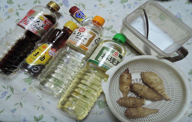 材料|菊芋の照り焼き