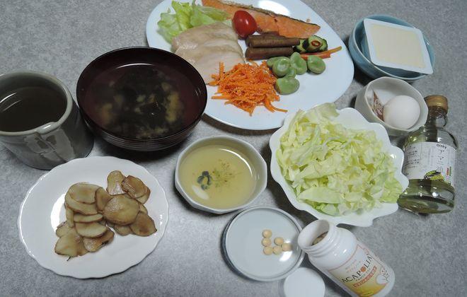 夕食の献立(糖質制限食)