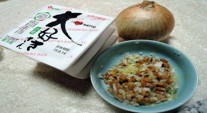 タマネギと納豆