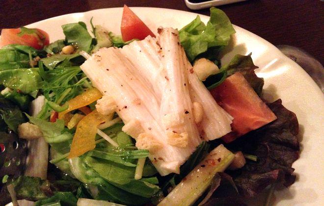 松の実の山芋のサラダ