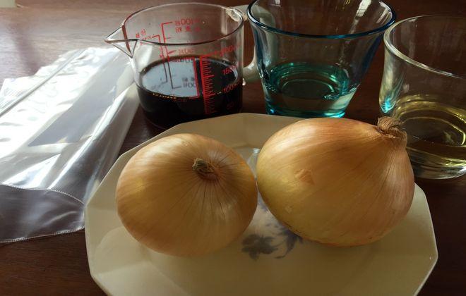 材料|玉ねぎの醤油漬け