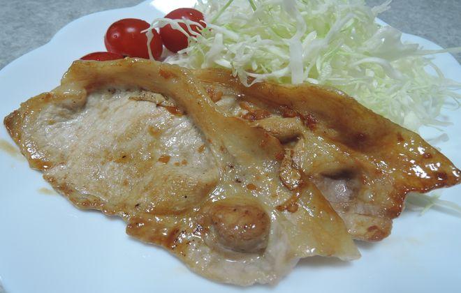 発酵生姜を使った豚肉の生姜焼き