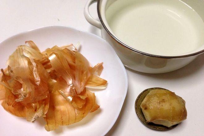生姜入り玉ネギの薄皮煮汁(材料)