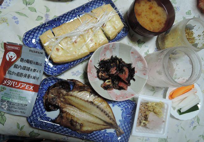 糖尿病定期検診10日前の夕食