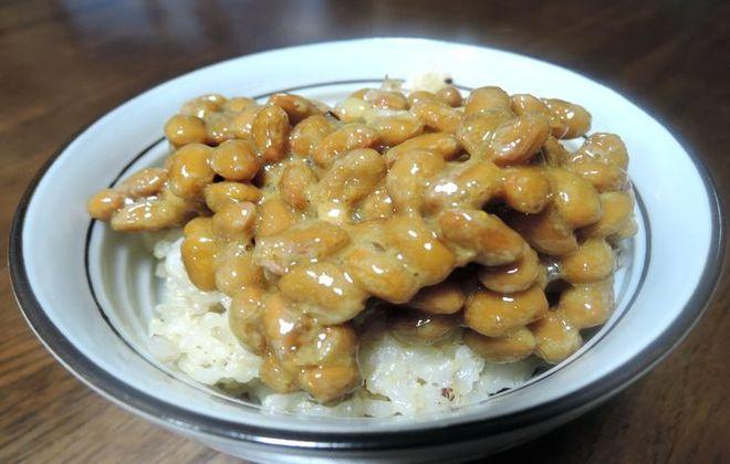 玄米と納豆