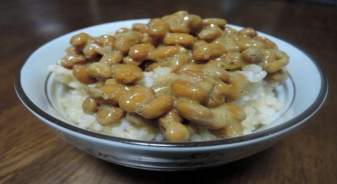 納豆ご飯(玄米)