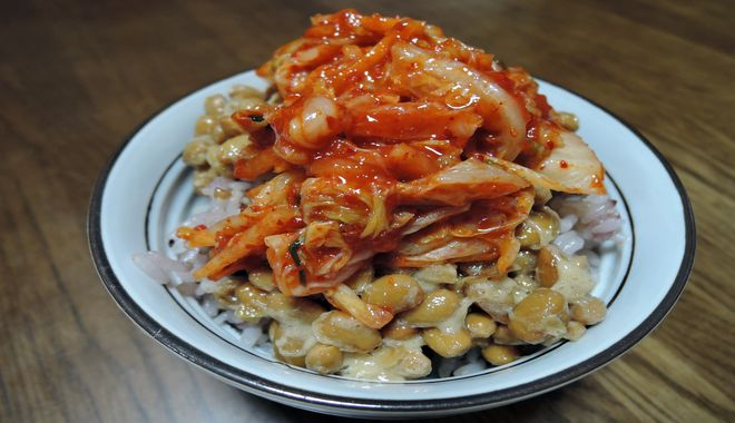 キムチ納豆ご飯