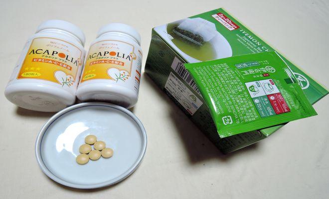 緑茶とアカポリアプス