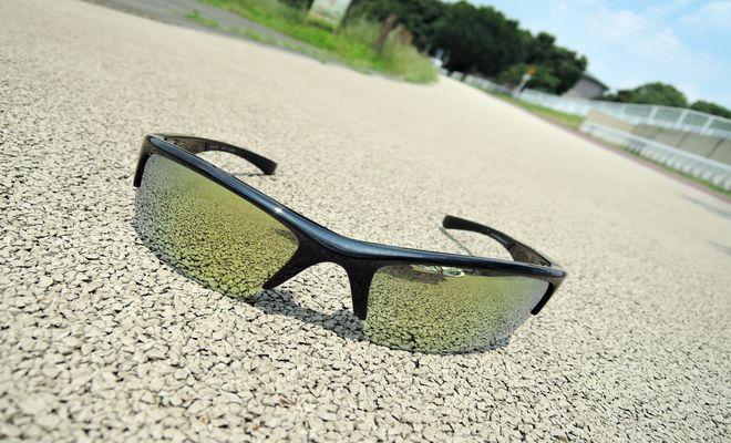 ユニクロのサングラス(アイプロテクトハーフリム)