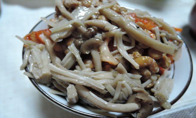 塩きのこ納豆キムチご飯