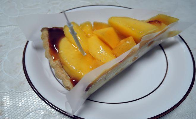 黄金桃のタルト・キャラメル風味