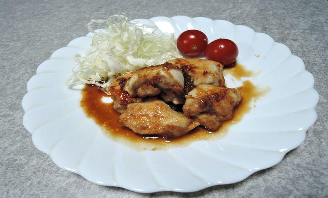 鶏胸肉の照り焼き煮