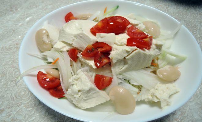 白花豆のサラダ