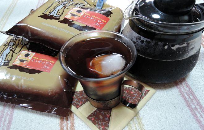 古川珈琲の自家焙煎コーヒー豆で作ったアイスコーヒー