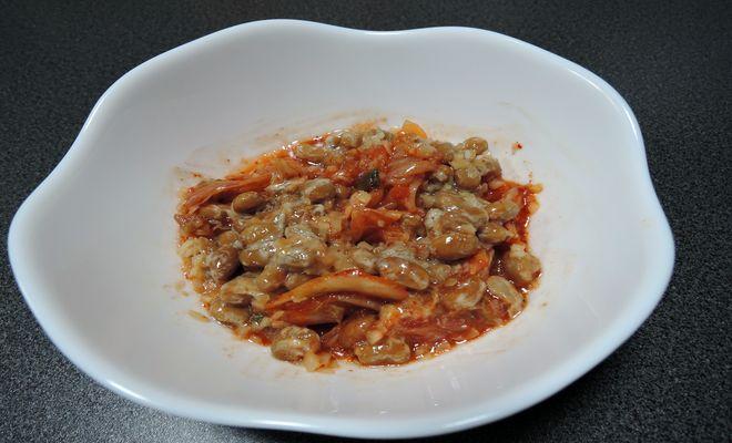 酢ショウガ納豆キムチ