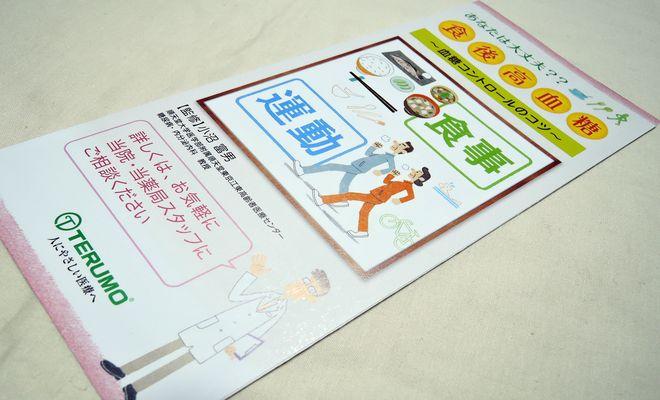 血糖コントロールのパンフレット(テルモ株式会社)