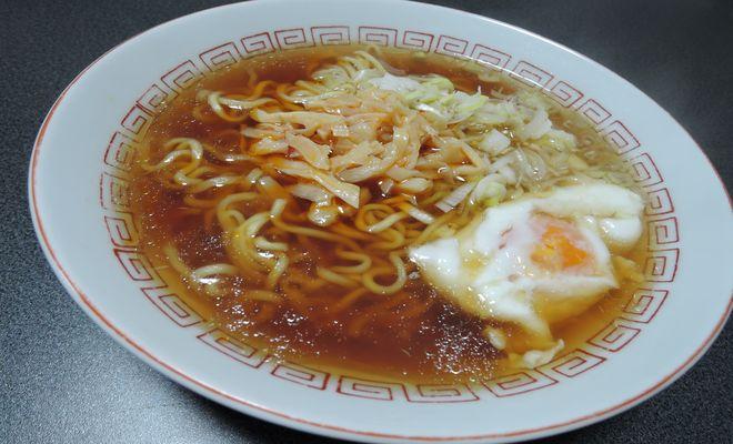 マルちゃん正麺に桃屋穂先メンマやわらぎをトッピング
