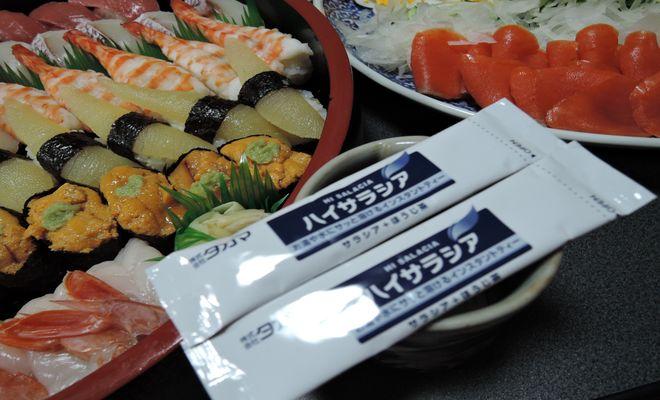 新年会の料理とハイサラシア