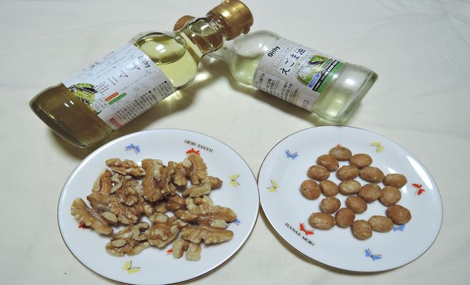 アマニ油・エゴマ油・サチャインチナッツ・クルミ