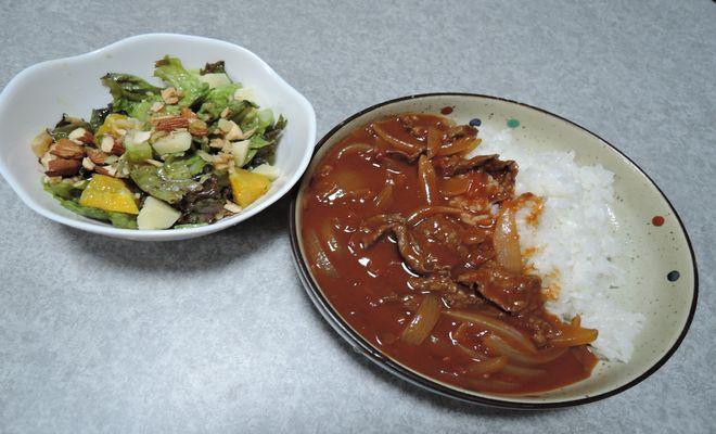 ハヤシライスとパワーサラダ